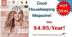 BEST DEAL AROUND! Get Good Housekeeping Magazine for only $4.95/year! That is only $0.41 per issue! What a fantastic gift idea too!  Click the link below to get all of the details ► http://www.thecouponingcouple.com/good-housekeeping-magazine-only-4-95year/ #Coupons #Couponing #CouponCommunity  Visit us at http://www.thecouponingcouple.com for more great posts!