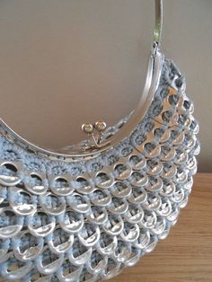 Mermaid purse made with soda tabs