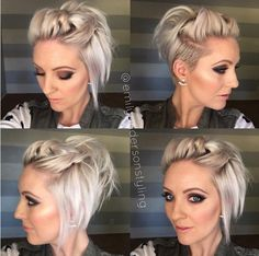Flirty Pinback – Shaved Hairstyles for Short Hair