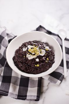 Chai Spiced Black Rice Pudding - A Beautiful Mess Black Rice Pudding, Crock Pot Sweet Potatoes, Boneless Pork Roast, Rice Pudding Recipes, Cream Of Celery Soup, Rice Recipes For Dinner, Creamed Mushrooms, Something Sweet, Rice Krispies