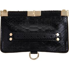 Proenza Schouler Evening Clutch Python ($1,695) ❤ liked on Polyvore