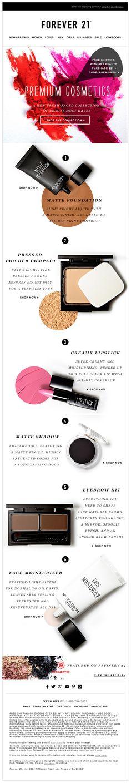Email Blast design for Premium Beauty Cosmetics Magazine Layout Design, Cosmetic Design, Newsletter Design, Beauty Packaging, Email Design, Makeup Designs, Web Banner, Web Design Inspiration, Brochure Design