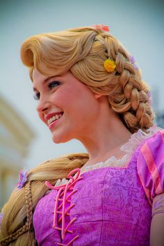 I think Rapunzel's the best Disney World Face Character.