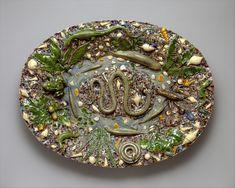 Platter Maker-Follower of Bernard Palissy (French, Agen, Lot-et-Garonne 1510–1590 Paris) last quarter 16th century Culture-French, Paris