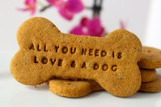 Dog & Weddings: All Natural Dog Treat Personalized Pumpkin Bone by TreatDreams, $10.00 Include your dog in your wedding! Personalized dog favors for your wedding day!