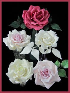 Big beautiful sugar gumpaste roses class at Inspired by Michelle Cake Designs