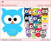 owls clipart digital clip art birds - BUY 2 GET 2 FREE - Lots Of Owls Digital Clipart