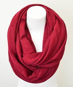 Take a look at this Leto Collection Burgundy Infinity Scarf on zulily today!