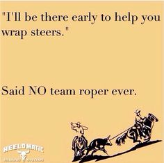 Things team ropers never say