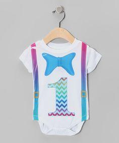 Look at this #zulilyfind! White Bow Tie '1' Bodysuit - Infant by American Classics #zulilyfinds
