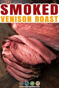 Smoked venison roast sounds like it should be awful — if you're used to smoking pork. Smoked, pulled pork, gently cooked for many hours until it falls apart is one of the great things about being alive. But you can't do that with venison, alas. Pork is, well, fatty. Porky, with lots of little packets of fat in between the muscle fibers that means a slow-smoked pork shoulder will baste itself. | @huntgathercook #hankshaw #venisonrecipes #smokedvenison #deerhunting #venisonrecipes Smoked Venison Roast Recipe, Best Roast Beef, Venison Recipes, Roast Recipes, Smoked Pork Shoulder, Breakfast Recipes, Dinner Recipes, Wild Game Recipes, Best Comfort Food