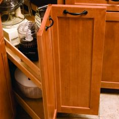 Kitchenmate Corner Pantry-Maple (#P0615MNL1) by Omega National Products | Shop & Save at CabinetParts.com