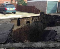 Residents shocked as 20-foot sinkhole opens up on housing estate built over abandoned colliery -- Earth Changes -- Sott.net