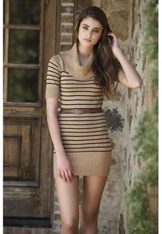 Pretty dress for the upcoming fall season.