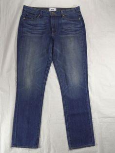 PAIGE DENIM high rise straight PAMELA WOODLANDS blue women's jeans SIZE 31