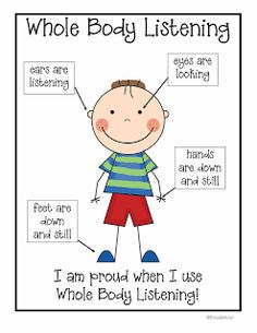 Erica Bohrer's First Grade: Back to School Activities - Free Sample and Whole Body Listening Download!