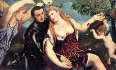 Paris Bordone, Allegory with Lovers, 1550, Oil on canvas, 111,5 x 174,5 cm, Kunsthistorisches Museum, Vienna