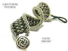"""Tutorial for Double Kumihimo Bracelet """" Celtic Dreams"""" with Superduo beads Instant Download PDF Beading Pattern"""