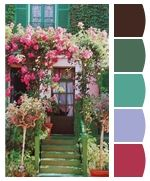 Colors based on Monet's garden in France. So pretty!