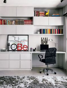 Home Office Decor. Office at home and home study style thoughts, which include tips on a smallish room, desk ideas, styles, and units. Make a workspace within your house you won't ever mind getting work finished in. 81650051 5 Home Office Decorating Ideas Home Office Design, Home Office Decor, House Design, Home Decor, Office Ideas, Men Office, Office Style, Office Setup, Office Lounge