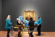 A terminal patient enjoys Rembrandt paintings at the Rijskmuseum, Amsterdam, one final time. Photo credit: unknown. #art #arthistory