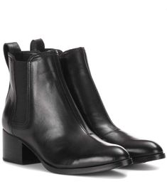 Rage and Bone - Walker black leather ankle boots
