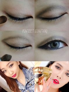 Hyuna Red Kpop Inspired Monolid Makeup Tutorial Acirc Make Up Agrave Agrave Cedil Agrave Agrave Cedil Agrave Cedil Laquo Agrave Cedil Agrave Agrave Cedil Monolid Makeup, Lip Makeup, Beauty Makeup, Makeup Stuff, Ulzzang Makeup Tutorial, Korean Makeup Tutorials, Hyuna Red, Asian Makeup Looks, Makeup Makeover