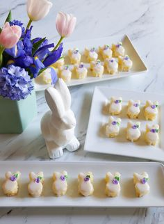Easter Bunny Almond Petits Fours from @bridget350