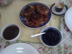 Sinful Sunday French Toast with Fresh Blueberry Sauce
