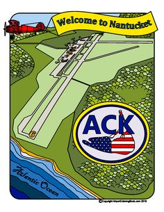 Airport Coloring Book Welcome to Nantucket