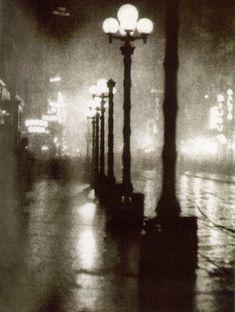 """Broadway at Night,"" 1905. Photograph by Alvin Langdon Coburn."