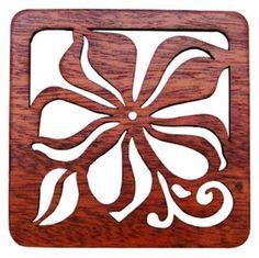 Hawaiian Laser Cut Wood Trivets Plumeria Set of 2 Price: $14.99