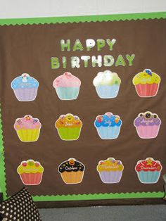 She used CTP's Cupcakes cut-outs for her birthday wall!