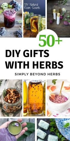 Creative DIY gifts with herbs are special as you can use all that nature has to offer. Replace long queues in shops for a walk in nature and get inspired. Herbal Remedies, Natural Remedies, Homemade Gifts, Diy Gifts, Homemade Seasonings, Food Gifts, Kraut, Making Ideas, Herbalism