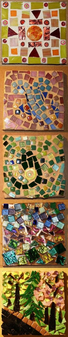 Mosaic Project Ideas (Vases and Steping Stools are better then Tiles)