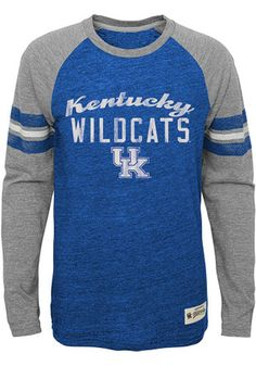 fddea95a2 Kentucky Wildcats Youth Blue Pride Raglan T-Shirt University Of Kentucky  Apparel