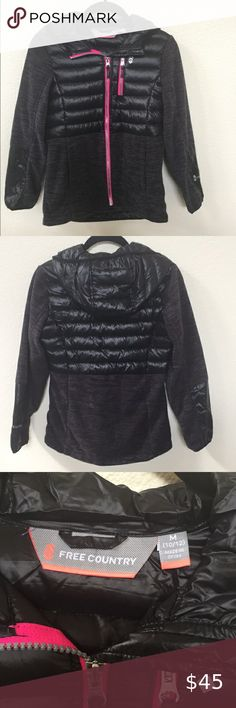 NWOT Free Country Girls Jacket New and never worn. Girls Jacket Puffer Size M Filling Down Waterfowl Feathers. Plus Fashion, Fashion Tips, Fashion Design, Fashion Trends, Country Girls, Feathers, Motorcycle Jacket, Black And Grey, Jackets For Women