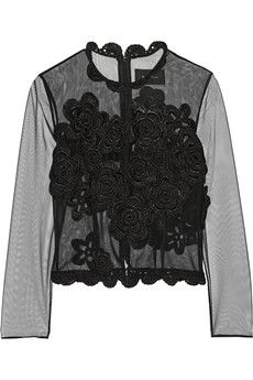 Simone Rocha Crochet-trimmed tulle top | THE OUTNET