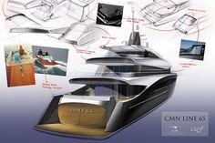 CMN Yacht 803 project 3D view