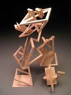 KyoungHwa Oh - Wood Sculpture #7 - Modular Design
