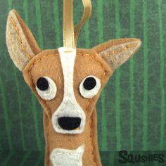 Hey, I found this really awesome Etsy listing at https://www.etsy.com/listing/110179978/felt-dog-handmade-christmas-ornament