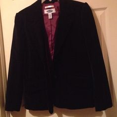 """""""Velvet"""" blazer """"Velvet"""" blazer with purple lining outer is 97cotton/3apandex lining is polyester Old Navy Jackets & Coats Blazers"""