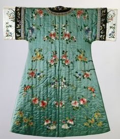 1900 - Qing Dynasty - woman's semi-formal domestic winter coat