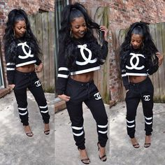 Designer Clothes, Shoes & Bags for Women Tomboy Outfits, Swag Outfits, Dope Outfits, Casual Outfits, Girl Outfits, Black Outfits, School Outfits, Dope Fashion, Fashion Killa