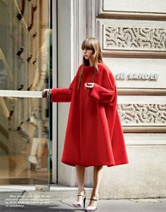 coat lust... exaggerated Swing Coat from; Jil Sandler