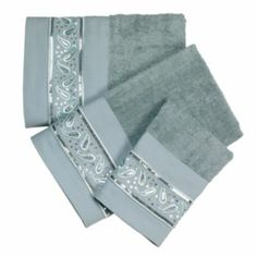 Popular Bath Paisley Sequins 3-pc. Bath Towel Set