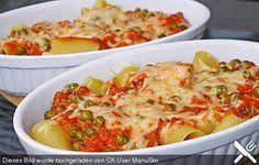 Rigatoni al forno mit Schinken - Sahne - Soße