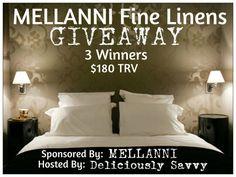 Blogger Opp ~ Mellanni Fine Linens Giveaway (3 Winners!) - Heartbeats~ Soul Stains
