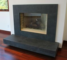 Brazilian Black Slate Fireplace Surrounds