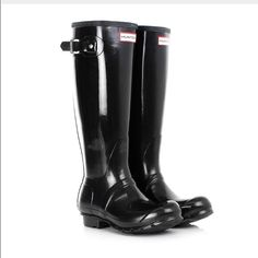 Original Hunter Glossy Rainboot Worn Once, Perfect Condition Hunter Boots Shoes Winter & Rain Boots